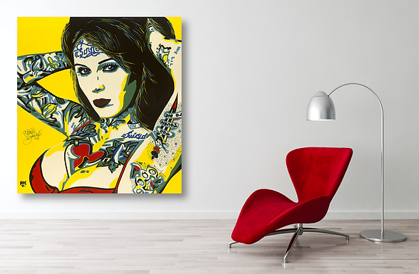 BOMBSHELL Pop Erotic Artwork for Modern Home Interior | Fine Art Prints For Sale by Artist Anita Nevar.