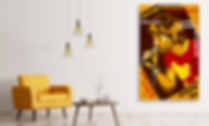 ANXIOUS SIN Original Artwork for Modern Home Interior Décor | Contemporary Pop Art Prints For Sale by Artist Anita Nevar.