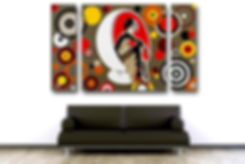 IN MILAN Pop Erotic Artwork in Modern Home Interior | Private Commissions by Artist Anita Nevar.