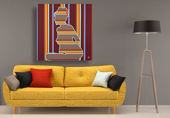 INVISAGE Pop Erotic Artwork for Modern Home Interior | Original Canvas Painting For Sale by Artist Anita Nevar.