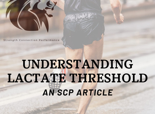 Understanding Lactate Threshold.....What is it?
