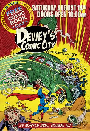 Comic Shop Event Promo Poster