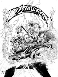 Traditional Ink Page Metallica Gig Poster