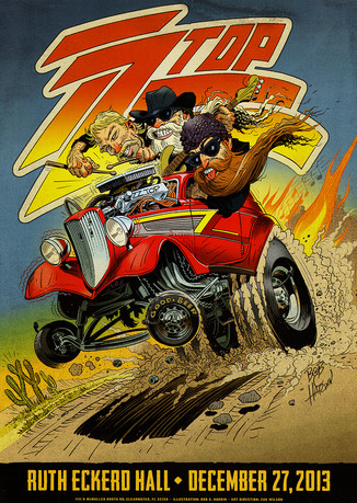 ZZ Top Gig Poster