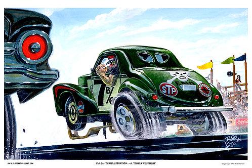 """Slot Car Thrillustration #9 """"THUNDERIN' WILLYS GASSER"""""""