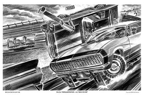 "Slot Car Thrillustration #10 ""PANIC OF THE PONY"""