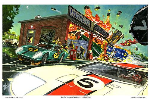 "Slot Car Thrillustration #4 ""PIT STOP PERIL"""