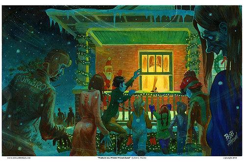 """MIGHTY FINE ART """"Walkers in a Winter Wonderland"""""""