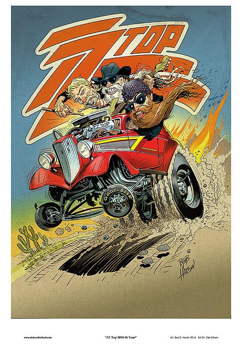 ZZ Top Eliminator gig poster