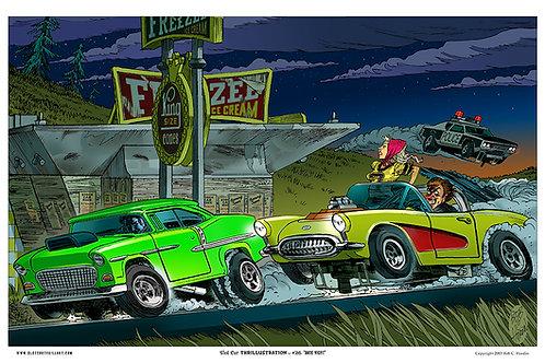 "Slot Car Thrillustration #26 ""DATE NIGHT"""