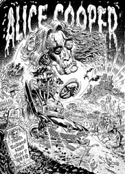 Traditional Ink Page Alice Cooper Gig Poster