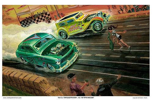 "Slot Car Thrillustration #32 ""HOT PEPPER DRAG(ZOOM)"""