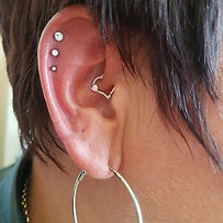 triple helix jewelled and silver heart p