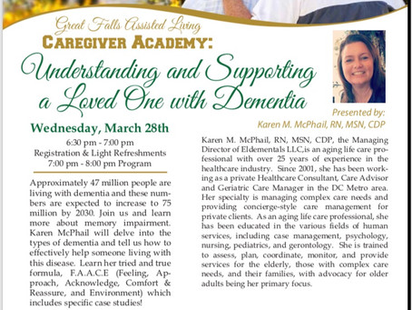 Upcoming Educational Event at Great Falls Assisted Living