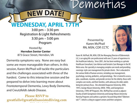 Reminder of Upcoming Educational Event!
