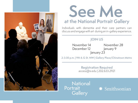 See Me Events at the National Portrait Gallery (November- January)