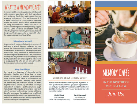 Northern VA Memory Cafe Information to Share!!!!