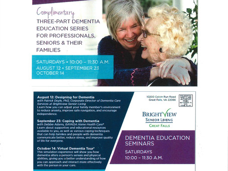 Upcoming event: Dementia Education Events for Caregivers and Professionals!