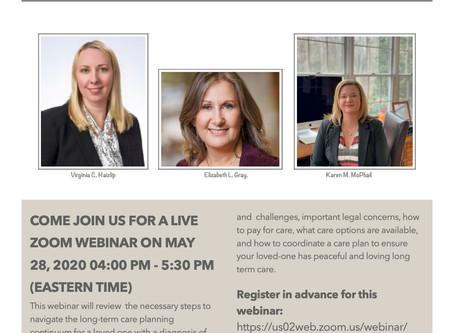 Upcoming Online Program- register Today!