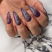New years 🥂🍾💜✨ #newyearnails #nails #
