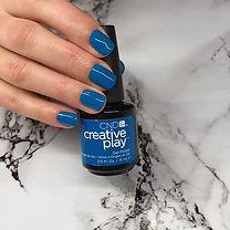 Blue skinny jeans 💙 I love CND Creative