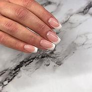 Square classic french 💋#nails #shinynai
