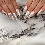 Winter Wonderland nails ❄️☃️😍 #nails #w