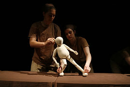 Roberts Etude by Ulysses Jones and Megan McNerney. National Puppetry Conference, Eugene O'Neill Theater. Table top Puppet. Puppet workshop.