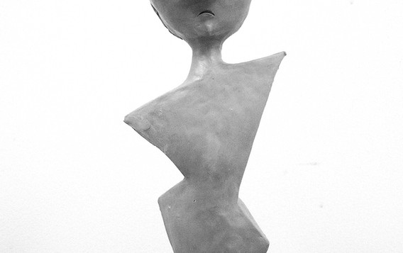 Balloon Maquette Lady with Lorgnettes