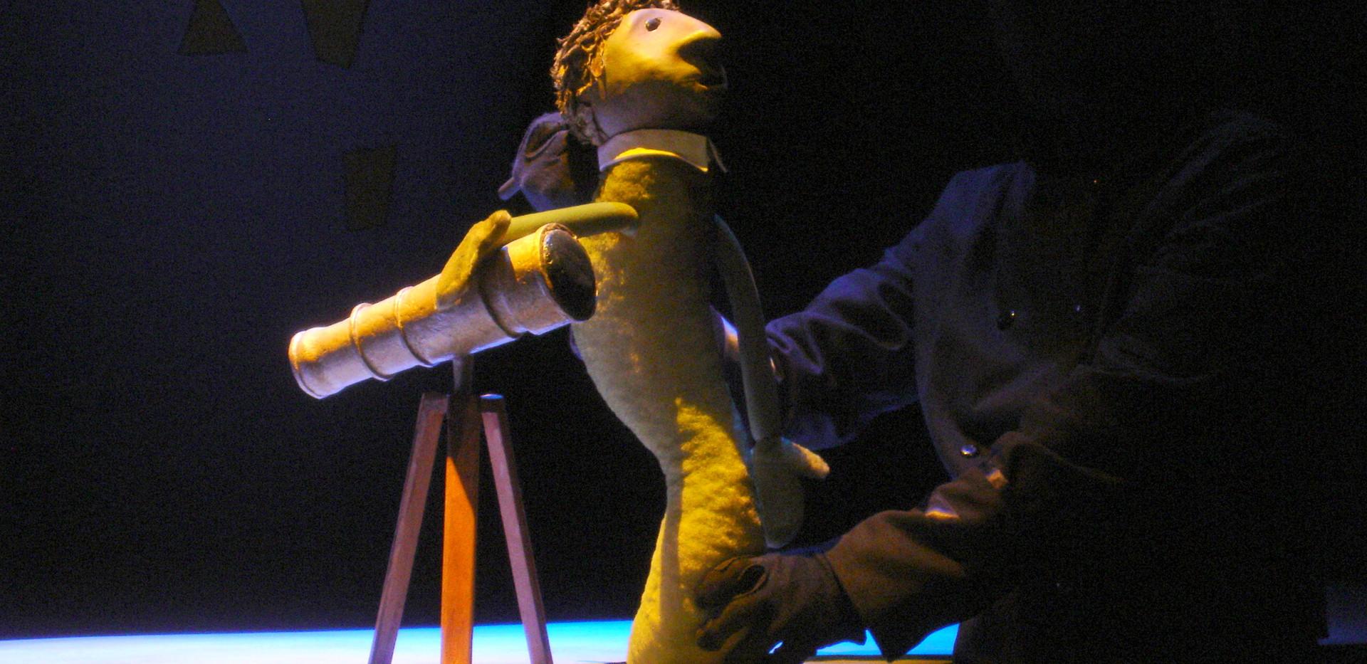 Balloon Caspar puppet with Telescope
