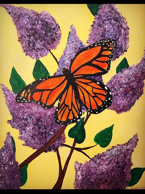 Monarch in Lilacs