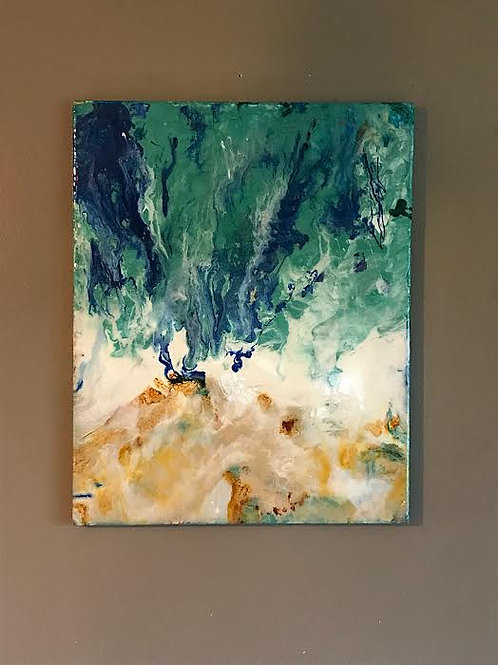 SOLD (Resin on Canvas)