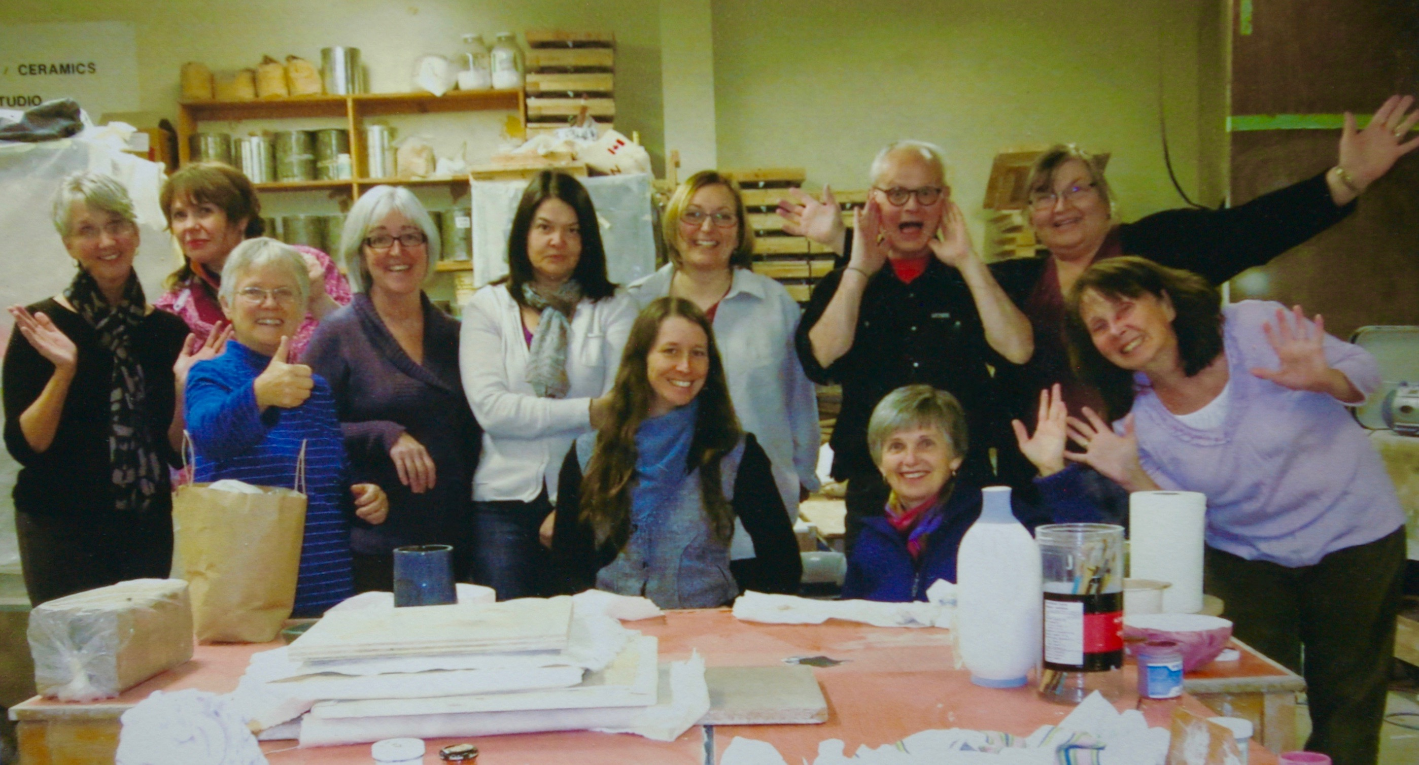 Last clay day class at Canadore_2012.jpg