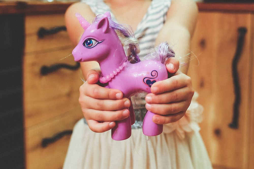 a girl and her first my little pony