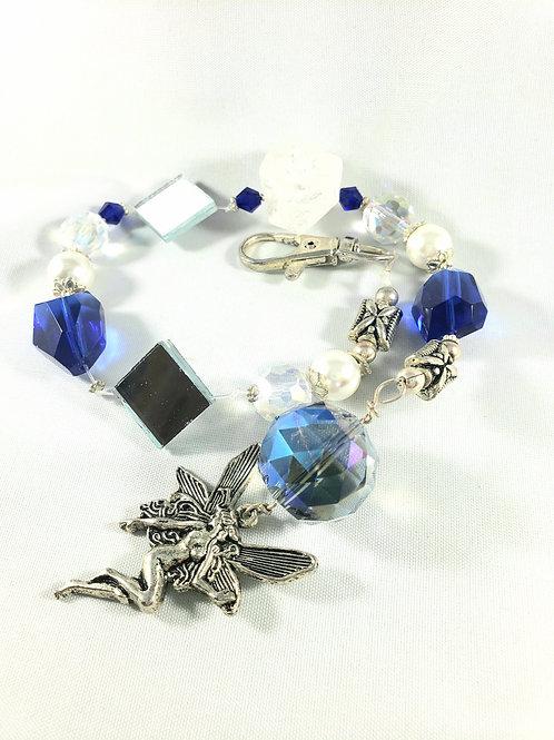 Blue Crystal and Quartz Fairy Suncatcher - Wall Decor
