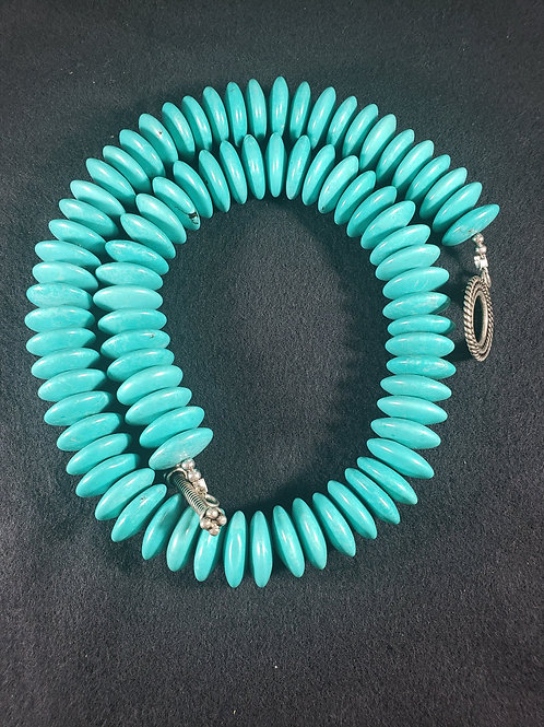 Turquoise natural Semiprecious Gemstone Necklace