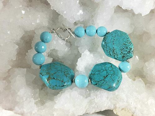 Natural Turquoise Chunky Bracelet