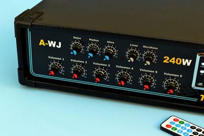 amplificador para central telefonica meneje perifone megafonia voceo o  musica ambiente