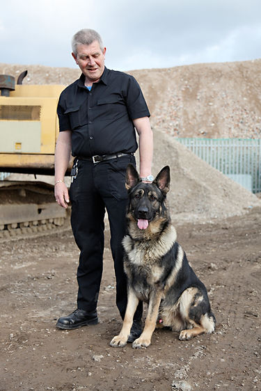 Hi-Res Security Dog Handler and Guard Dog