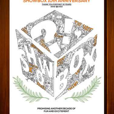 SHOWBOX 10th ANNIVERSARY COMMERCIAL POSTER