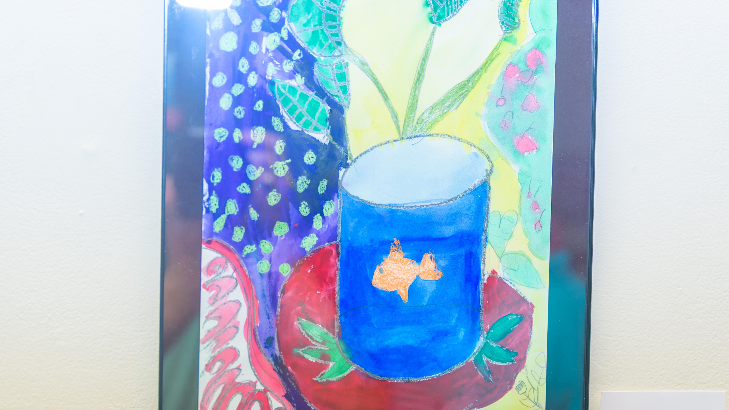 Hazel Hughes' artwork in the Greenville Museum of Art