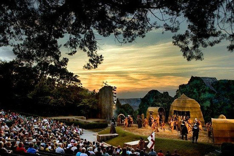 "Roanoke Island amphitheatre for performances of ""The Lost Colony"" outdoor drama (Web photo)"