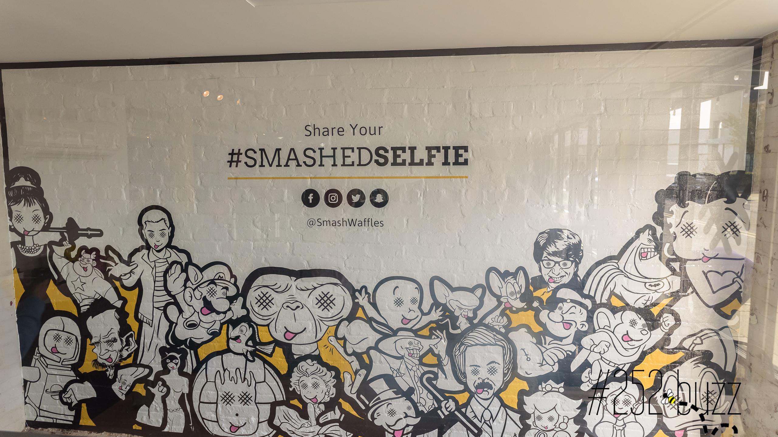 Smash Waffles Selfie Wall