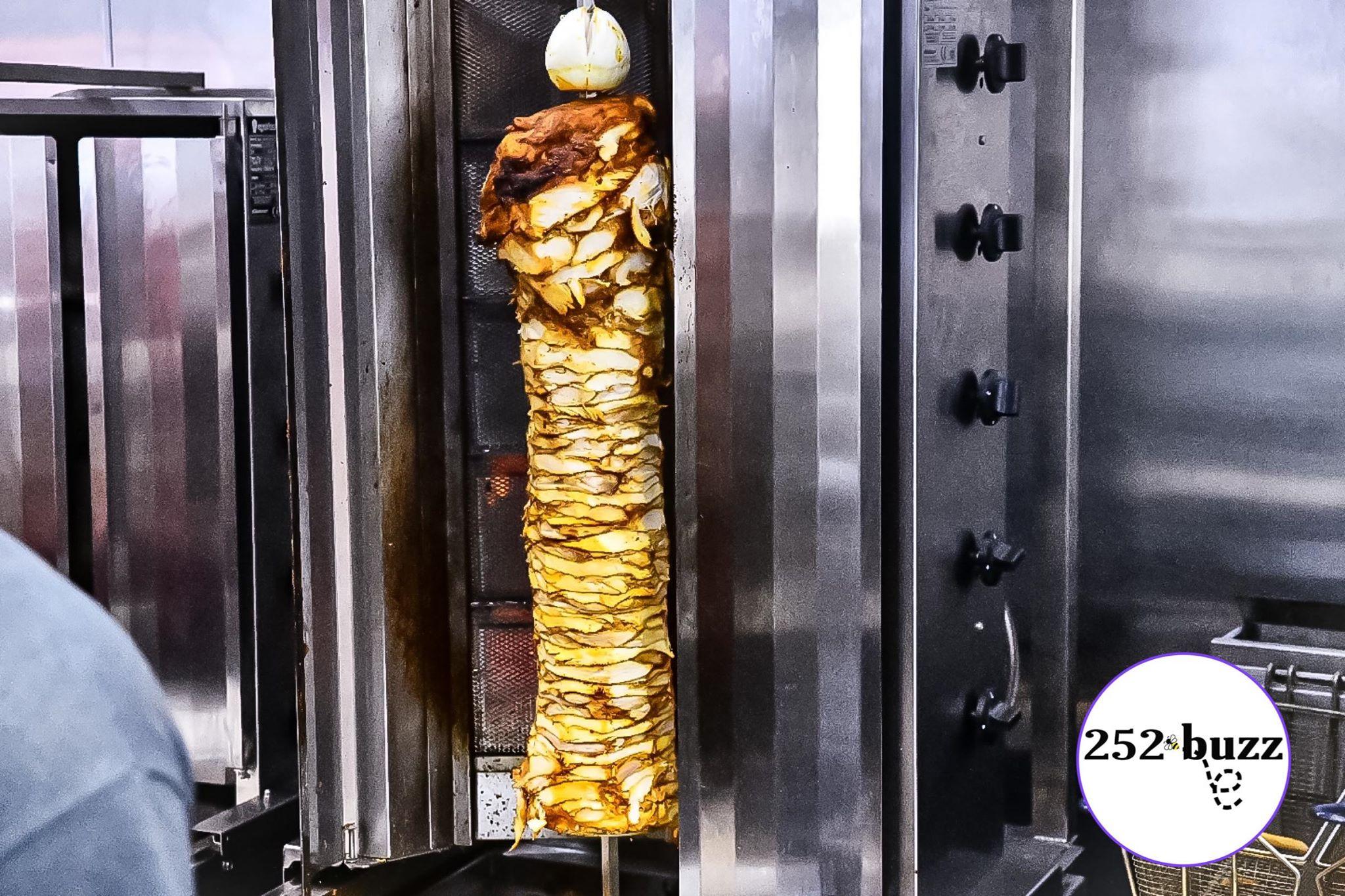 Authentic chicken shawarma