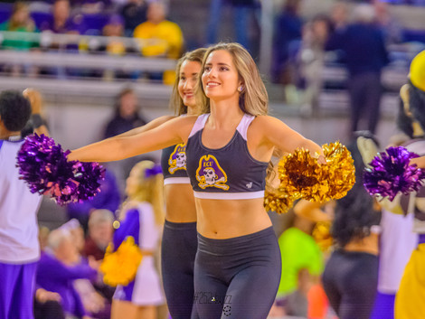 ECU DANCE TEAM & CHEERLEADERS at ECU BASKETBALL GAME