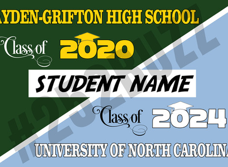 CLASS of 2020 vinyl banners