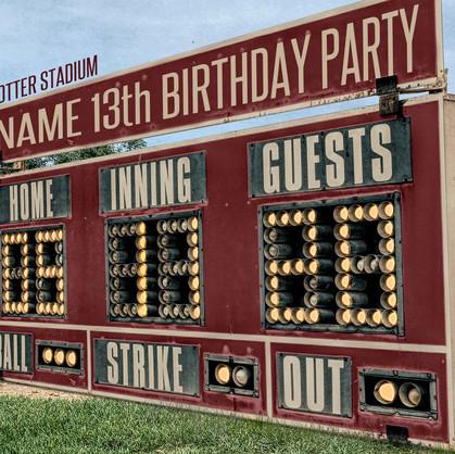 boys birthday party 18x24 sign sample