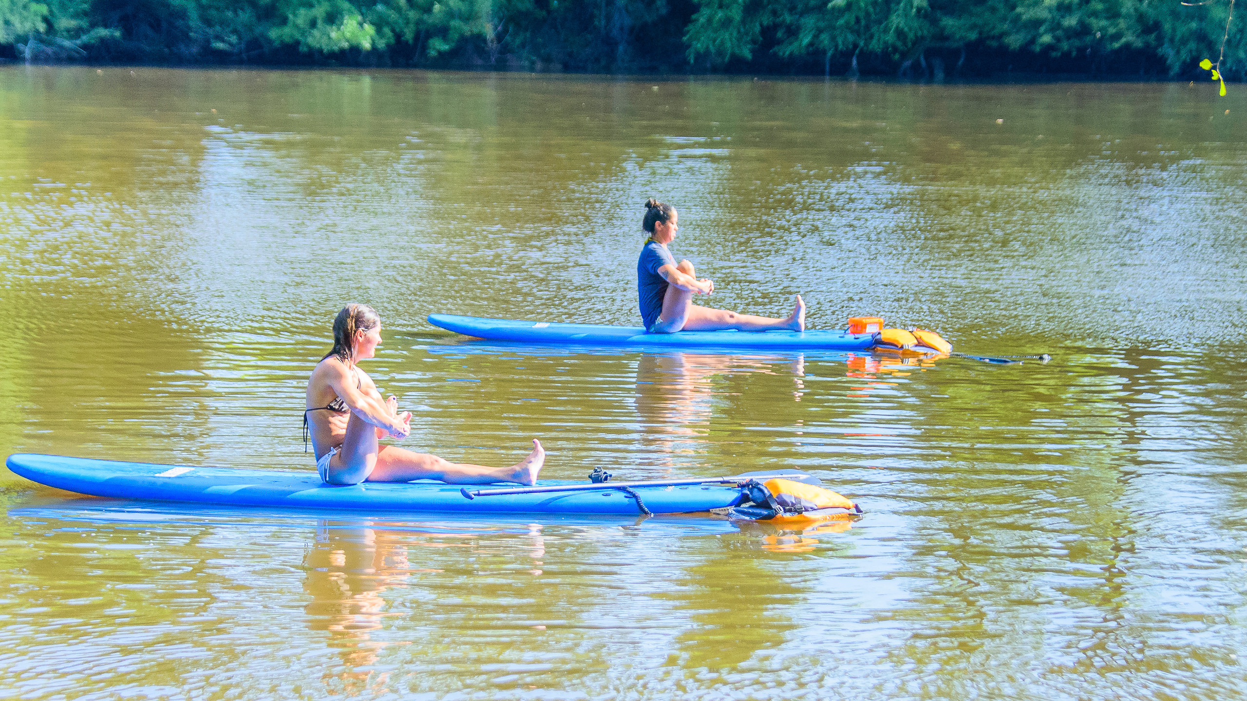SUP Yoga session on the Tar River
