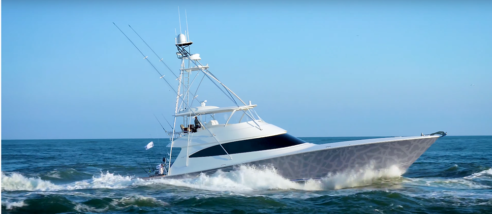 Catch 23, an 80-foot Viking sportfishing yacht, is owned by Michael Jordan