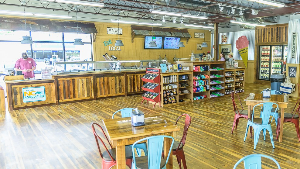 Simply Natural's Greenville location offers hand-scooped ice cream along with dairy products.